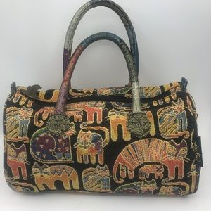 Laurel Burch Cat Tapestry Tote